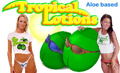 Tropical body lotions with Aloe
